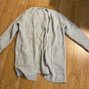 Madewell waffle print sweater coat size XL